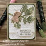 By Su Mohr for GDP; Click READ or VISIT to go to my blog for details! Featuring: Beautiful Boughs Dies, Itty Bitty Christmas Stamp Set, Detailed Trio Punch, Ice Stampin