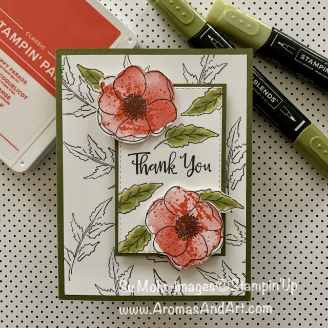 By Su Mohr for FMS; Click READ or VISIT to go to my blog for details! Featuring: Painted Poppies Stamp Set, Peaceful Moments Stamp Set, Stitched Rectangles Dies; #paintedpoppies #peacefulmoments #occasions2020 #sneakpeeks #poppies #handmadecards #handcrafted #diy #cardmaking #stampinup