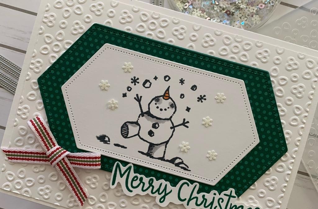 Snowman Says Merry Christmas
