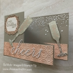 By Su Mohr for Pals Blog Hop; Click READ or VISIT to go to my blog for details! Featuring: 2019 Holiday retiring products, Stylish Scroll embossing, Mercury Glass Acetate, Cheers Dies, Sip & Celebrate Dies, Sip Sip Hooray Stamp Set; #celebrationcards #weddingcards #retiringproducts #stampinup #palsbloghop #bloghops #cheers #sip&celebrate #champagne #champagnetoast #toasting #drinksoncards #handmadecards #handcrafted #diy #cardmaking