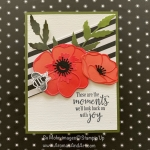 By Su Mohr; Click READ or VISIT to go to my blog for details! Featuring: Peaceful Poppies DSP, Poppy moments dies, Peaceful moments Stamp Set, Honey Bee Bundle, Detailed Bee Dies, Golden Honey DSP; #honeybees #beesoncards #peacefulpoppies #poppies #poppymoments #2020minicatalog #flowersoncards #stampinup #sale-a-bration