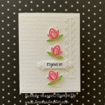 By Su Mohr for FMS; Click READ or VISIT to go to my blog for details! Featuring: Lovely Lily Pad Stamp Set, Lily Pad Dies, Ornate Frames Dies, Scripty embossing, Under My Umbrella; #sale-a-bration #sneakpeek #lilies #llilypad #lovelylilypad #lilypaddies #2020minicatalog #stampinup #handmadecards #handcrafted #diy #cardmaking