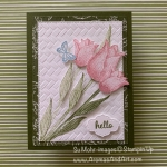 By Su Mohr for Fab Fri; Click READ or VISIT to go to my blog for details! Featuring: Timeless Tulips Stamp Set, Coastal Weave embossing, Stitched Rectangles Dies, Stitched So Sweetly; #friendshipcards #timelesstulips #tulippunch #coastalweave #colorchallenges #cardchallenges #colorcombinations # color combos #handmadecards #handcrafted #diy #cardmaking