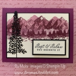 By Su Mohr for TGIF; Click READ or VISIT to go to my blog for details! Featuring: Mountain Air Bundle, Mountain Air Stamp Set, Majestic Mountain Dies, Timeless Tropical Stamp Set, Stitched Rectangles Dies; #masculinecards #mountainair #majesticmountains #mountains #treesoncards #colorcombos #cardchallenges #handmadecards #handcrafted #diy #cardmaking #cardsforguys