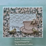 By Su Mohr for The Sisterhood of Crafters; Click READ or VISIT to go to my blog for details! Featuring: Tea Together Stamp Set, Tea Time Dies, Be Mine Stitched Dies, Stitched So Sweetly Dies, Bird Ballad DSP; #teatime #teaparties #teatogether #teatime #birdsoncards #handmadecards #handcraftyed #diy #cardmaking