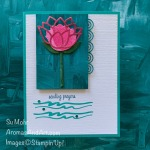 By Su Mohr for cts; Click READ or VISIT to go to my blog for details! Featuring: Lovely Lily Pad Stamp Set, Lily Pad Dies, Lily Impressions DSP, Itty Bitty Greetings; #lilypad #lovelylilypad #lilliesoncards #sale-a-bration #snedingprayers #sympathycards #free #handmadecards #handcrafted #cardinstruction #diy #cardmaking #cardsketches