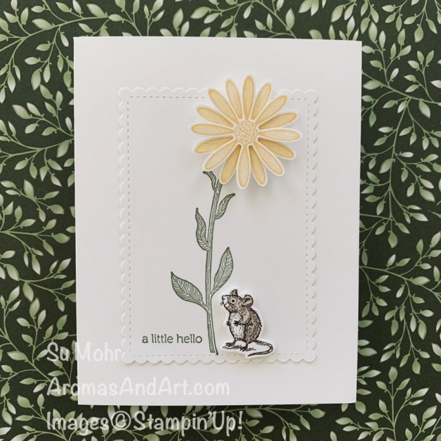 By Su Mohr for PP; Click READ or VISIT to go to my blog for details! Featuring: Special Someone Stamp Set, Special Day Dies, Daisy Lane Stamp Set, Medium Daisy Punch, Stitched So Sweetly Dies, Itty Bitty Greetings Stamp Set; #specialsomeone #specialday #mousecards critters #crittersoncards #miceoncards #daisies #daisylane #daisypunch #2020stampinup #2020minicatalog #handmadecards #handcrafted #diy #cardmaking