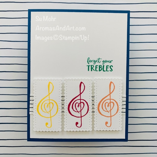 By Su Mohr for cts; Click READ or VISIT to go to my blog for details! Featuring: retiring In Colors, Music From The Heart Stamp Set, Stitched So Sweetly Dies; #musiconcards #cardswithmusic #musictheme #trebleclef #forgetyourtrebles #musicfromtheheart #incolors #retiringincolors #2018-2020incolors #handmadecards #handcrafted #cardmaking #diy #papercrafting #cardsketches #cardchallenges #colorcombinations