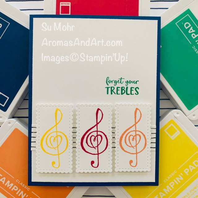 EAD or VISIT to go to my blog for details! Featuring: retiring In Colors, Music From The Heart Stamp Set, Stitched So Sweetly Dies; #musiconcards #cardswithmusic #musictheme #trebleclef #forgetyourtrebles #musicfromtheheart #incolors #retiringincolors #2018-2020incolors #handmadecards #handcrafted #cardmaking #diy #papercrafting #cardsketches #cardchallenges #colorcombinations