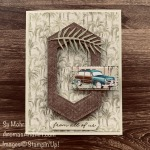 By Su Mohr for FMS; Click READ or VISIT to go to my blog for details! Featuring: Tropical Oasis DSP, Stitched Nested Label Dies, Tropical Dies, Ornate Thanks Stamp Set; #birthdaycards #masculinecards #masculinebirthday #cars #classiccars #tropicalcards #surfboards #handmdecards #handcrafted #diy #papercrafting #cardmaking