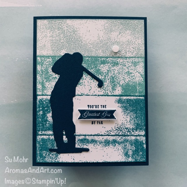 By Su Mohr for GDP; Click READ or VISIT to go to my blog for details! Featuring: Clubhouse Stamp Set, Golf Club Dies, Acrylic Block H; #guycards #masculinecards #golfoncards #clubhouse #golfclub #masculinecards #birthdaycards #fathersdaycards #masculinebirthday #cardtechniques #backgroundtechniques #acrylicblockstamping