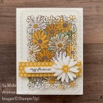 By Su Mohr for cts; Click READ or VISIT to go to my blog for details! Featuring: Ornate layers Dies, Medium Daisy Punch, Ornate Thanks Stamp Set, Ornate Garden DSP, In Color 6X6 DSP; #friendshipcards #card sketches #ornate layers #ornategarden #daisies #daisiesoncards #flkowersoncards #daisypunch #handmadecards #handcrafted #diy #cardmaking #papercrafting