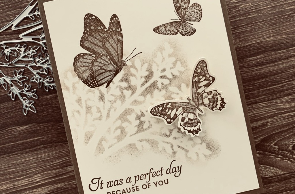Butterfly Wishes In Sepia