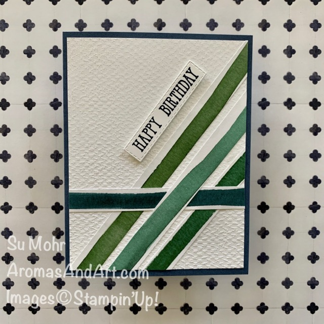 By Su Mohr for FMS and PP; Click READ or VIST to go to my blog for details! Featuring: Forever Greenery DSP, Tasteful Textile embossing, Misty Moonlight Cardstock, Well Said Stamp Set; #incolors #2020-2021 #sneakpeeks #forevergreenery #tastefultextile #ingoodtaste #masculinecards #cardsforguys #masculinebirthday #birthdaycards #handmadecards #handcrafted #diy #cardmaking #papercrafting