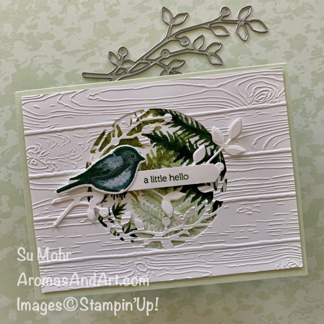 By Su Mohr for #GDP242; Featuring: Birds & Branches Bundle, Pinewood Planks embossing, Itty Bitty Greetings Stamp Set; #GDP242 #designteam #Globaldesignproject #cardchallenges #cardsketches #handmadecards #handcrafted #diy #cardmaking #papercrafting #birdsoncards #birds&branches