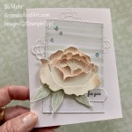 By Su Mohr for #GDP247; Click READ or VISIT to go to my blog for details! Featuring: Prized Peony Bundle, Subtle Textured embossing, Square Vellum Doilies, Nature
