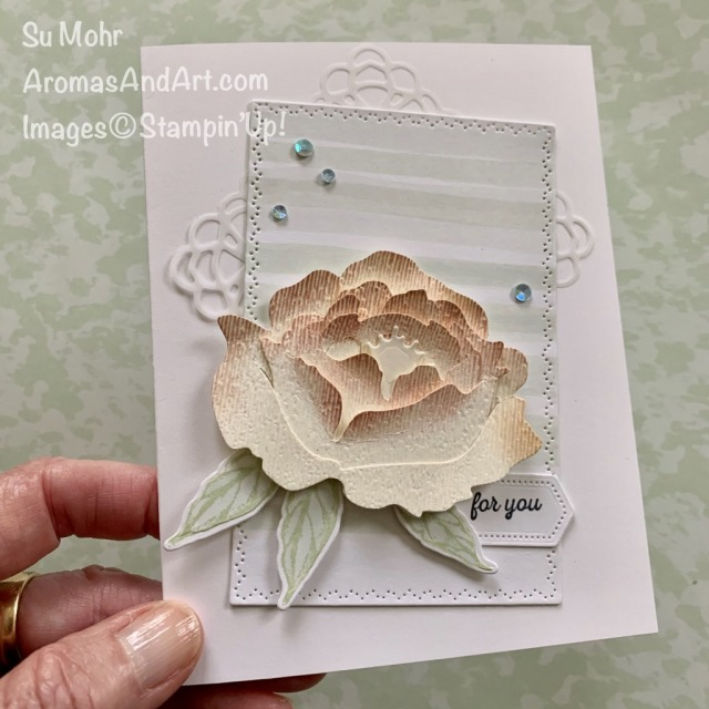 By Su Mohr for #GDP247; Click READ or VISIT to go to my blog for details! Featuring: Prized Peony Bundle, Subtle Textured embossing, Square Vellum Doilies, Nature's Thoughts Dies, Stitched Nested Labels Dies, itty Bitty Greetings Stamp Set; #prizedpeonies #gdp247 #peonies #flowersoncards #cardsketches #cardchallenges #peonydies #