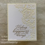 By Su Mohr; Click READ or VISIT to go to my blog for details! Featuring: Lasting Elegance Dies, So Sentimental Stamp Set; #weddingcards #easytomake #handmadecards #cardmaking #papercrafting #weddings #weddinginvirations