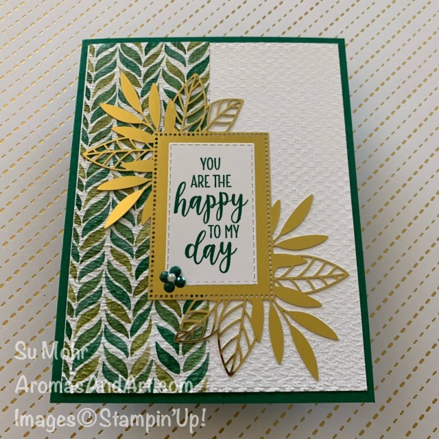 By Su Mohr for FMS; Click READ or VISIT to go to my blog for details! Featuring: Forever Greenery DSP, Forever Gold Laser-cut DSP, Country Home STamp SEt, Tasteful Textile embossing; #friendshipcard #foreverygreenery #forevergoldlaser-cutpaper #laser-cutpaper #countryhome #tastefultextile #handmadecards #handcrafted #diy #cardmaking #papercrafting #goldoncards #cardchallenges #cardsketches #2020-2021