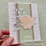 By Su Mohr for the Pals Blog Hop; Click READ or VISIT to go to my blog for details! Featuring: Prized Peony, Forever Flourishing, Subtle Textured embossing, heat embossing; #thankyoucards #prizedpeony #foreverflourishing #cardtechniques #heatembossing #flowersoncards #peonies #palsbloghop #handmadecards #handcrafted #diy #cardmaking #papercrafting #aromasandart